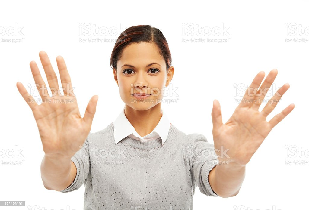 Two hands up to you royalty-free stock photo