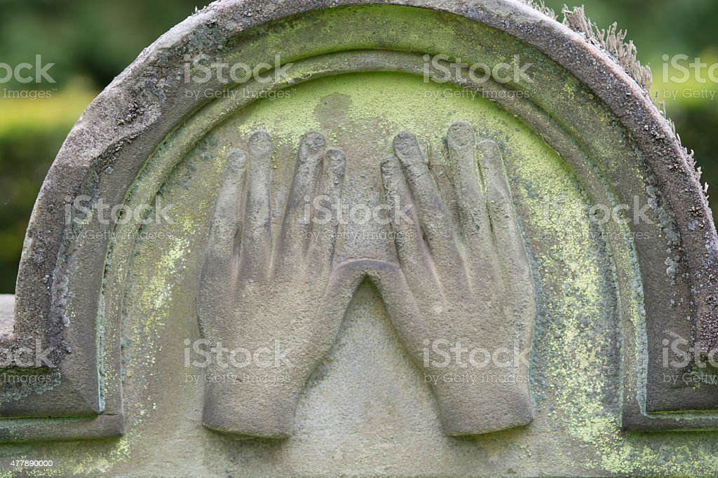 Two hands with outspread fingers royalty-free stock photo