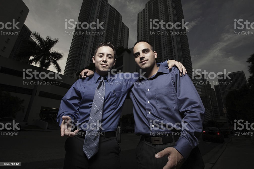 Two handsome businessmen stock photo