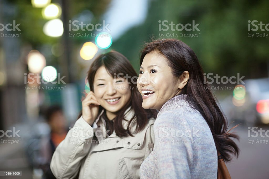 Two happy asian girls royalty-free stock photo