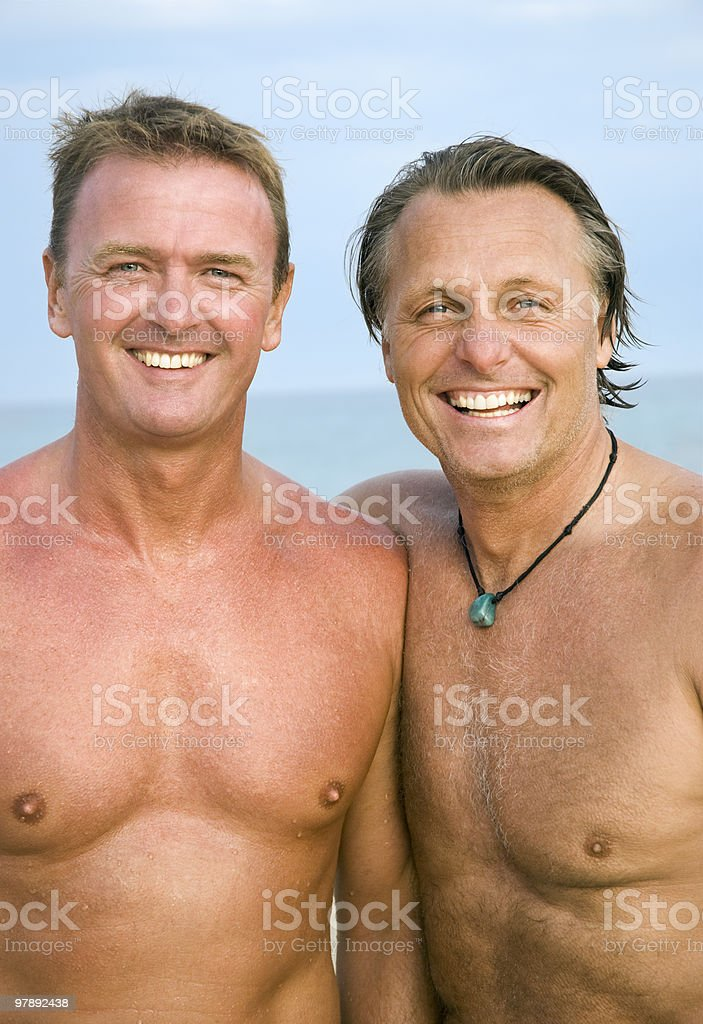 two happy gay men together royalty-free stock photo