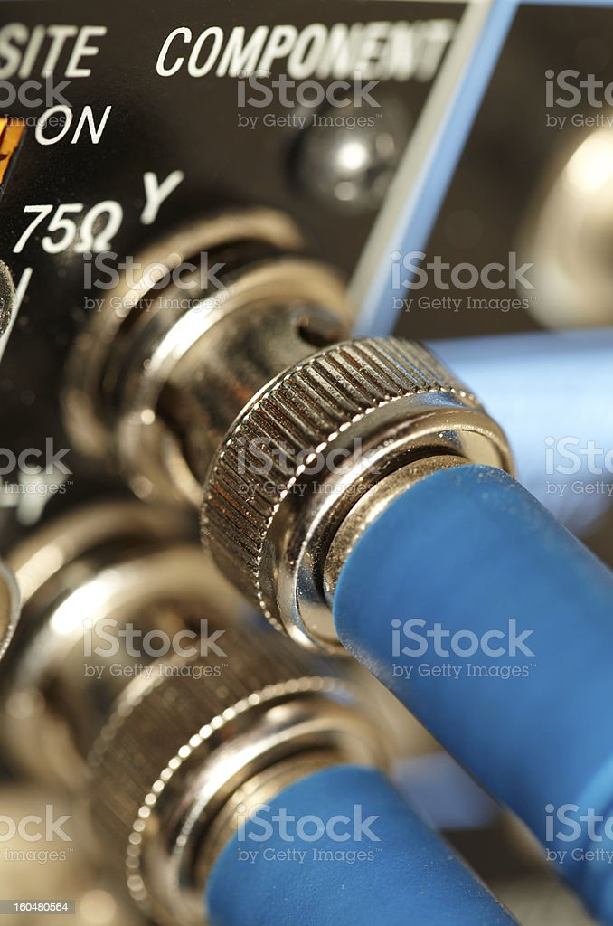 Two HD SDI-video cables royalty-free stock photo
