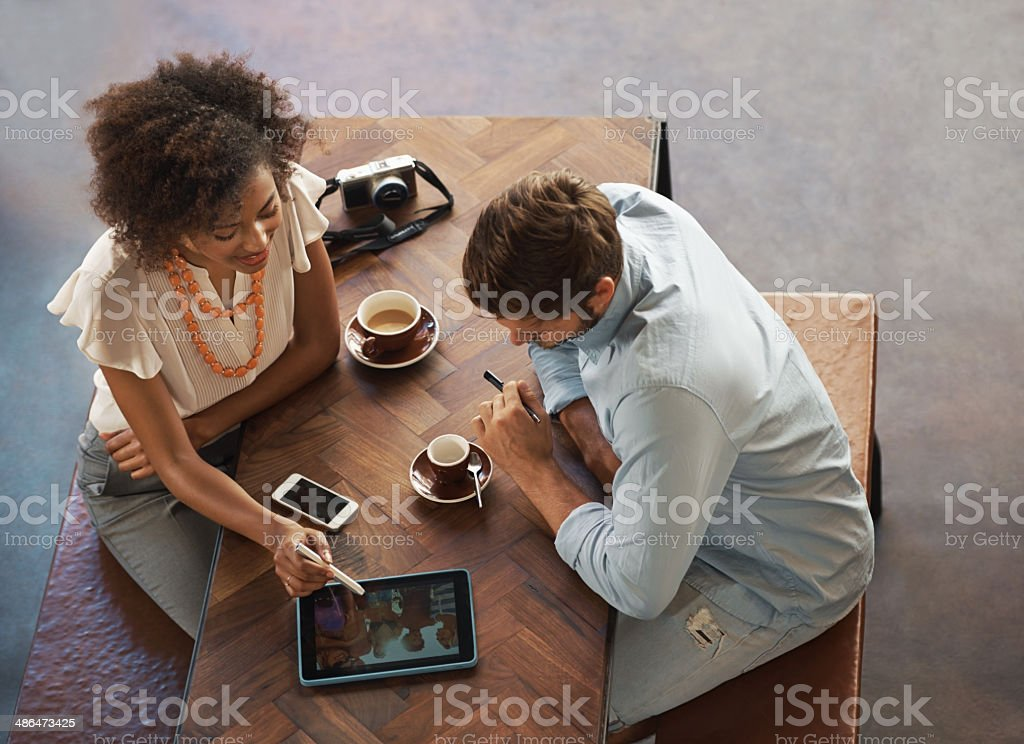 Two heads are better than one - Creative Business ideas stock photo
