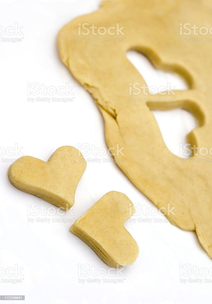 Two heart shaped cookies royalty-free stock photo