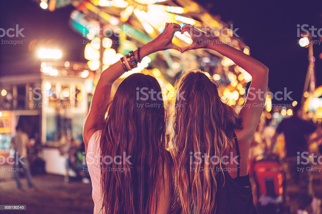 Two hearts are better than one! stock photo