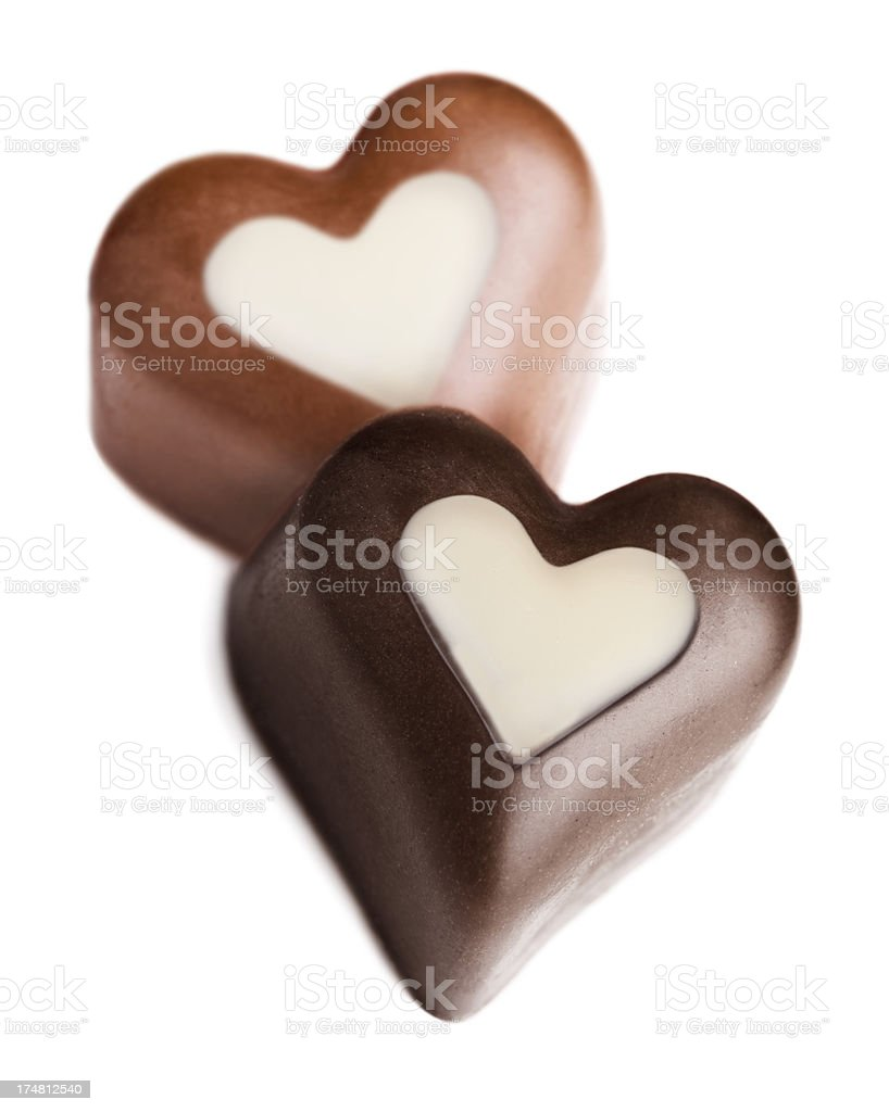 Two hearts chocolate royalty-free stock photo