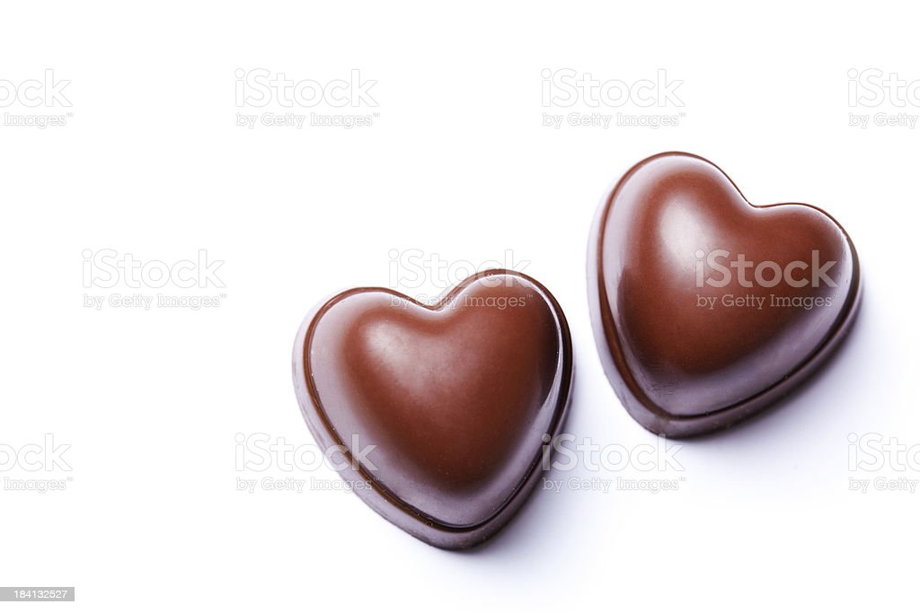 Two hearts chocolate stock photo