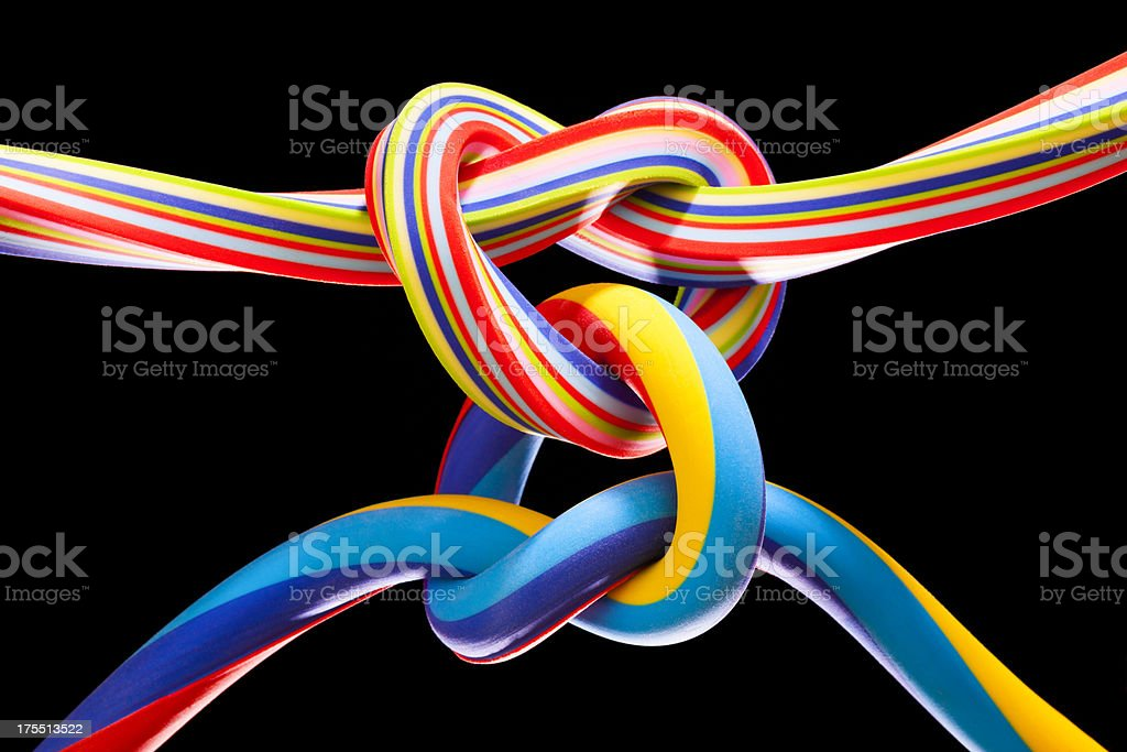 Two Hearts Forever Entwined stock photo
