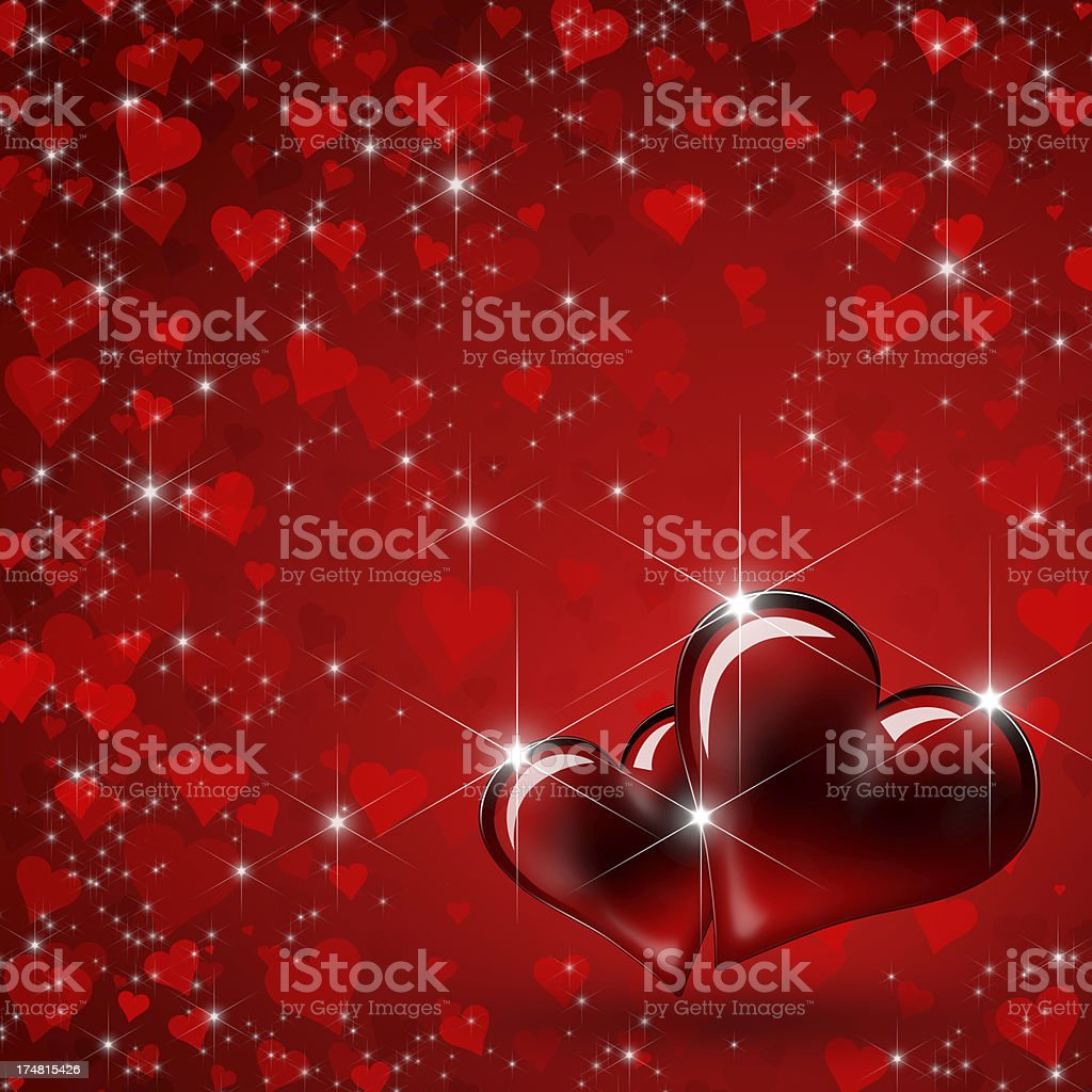 Two hearts in love royalty-free stock photo