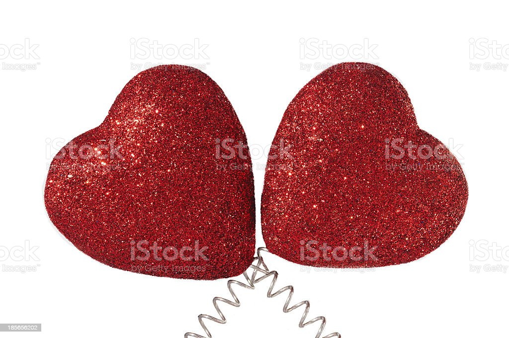 Two Hearts Isolated stock photo