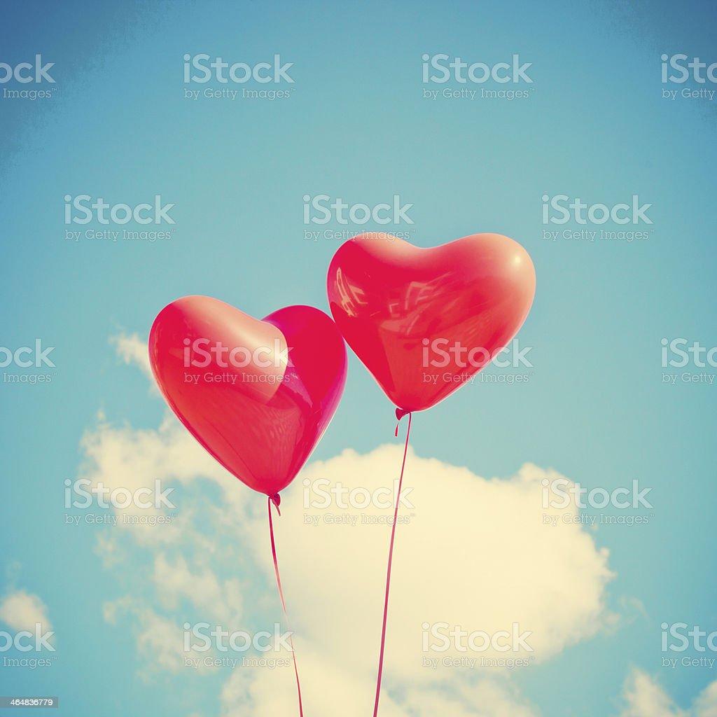 Two Hearts stock photo