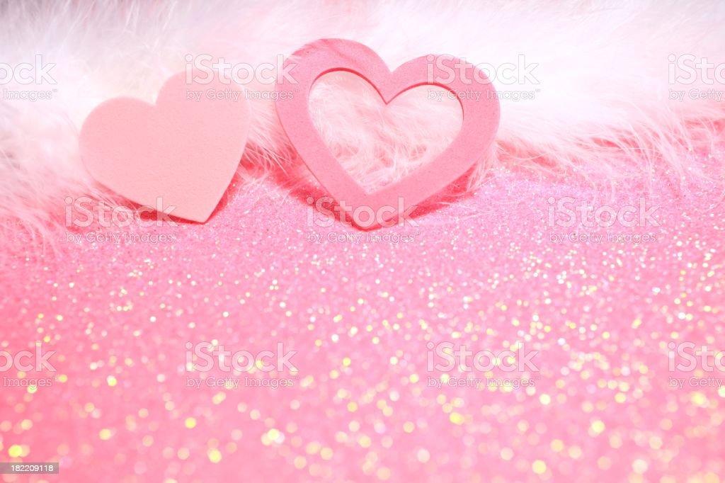 Two Hearts Pretty Valentine stock photo