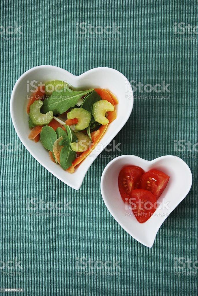 Two hearts salad royalty-free stock photo