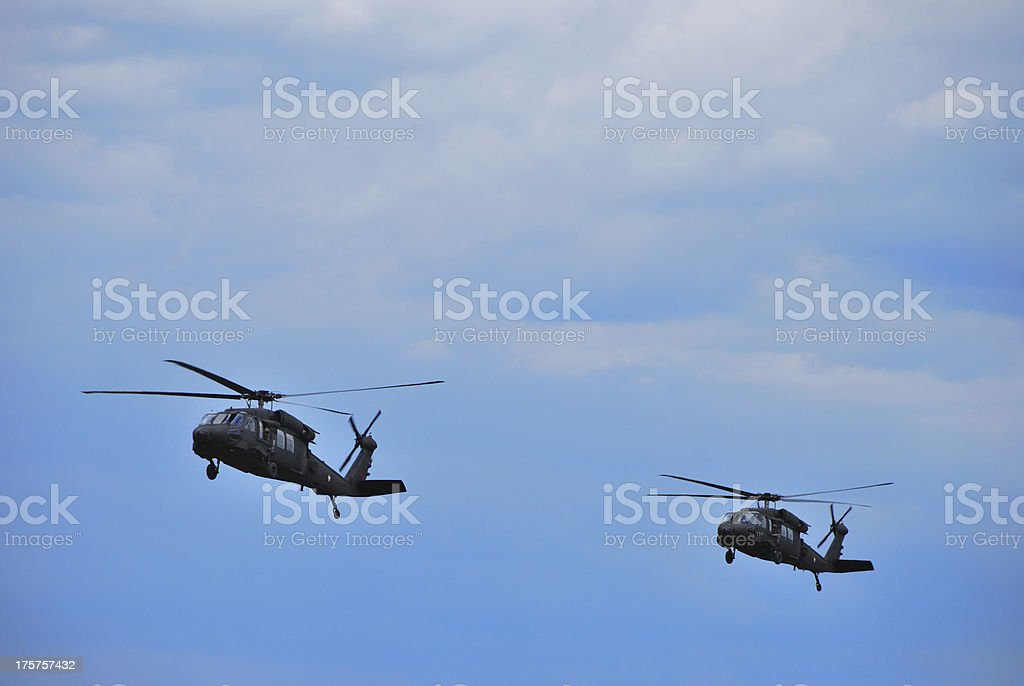 two helicopter royalty-free stock photo