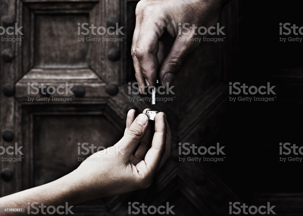 Two helping hands royalty-free stock photo