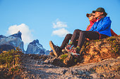 Two hikers in Torres del Paine
