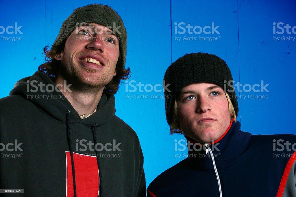Two Hip dudes stock photo
