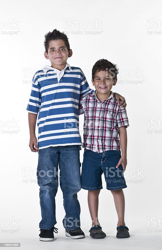 Two hispanic children royalty-free stock photo