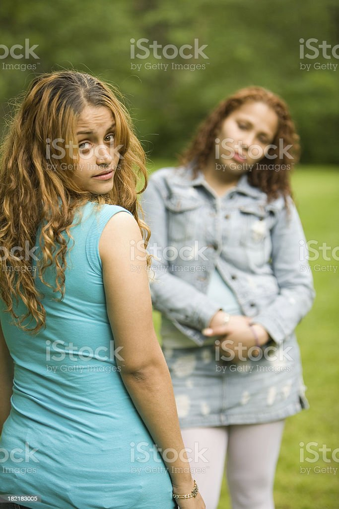 Two Hispanic girls royalty-free stock photo