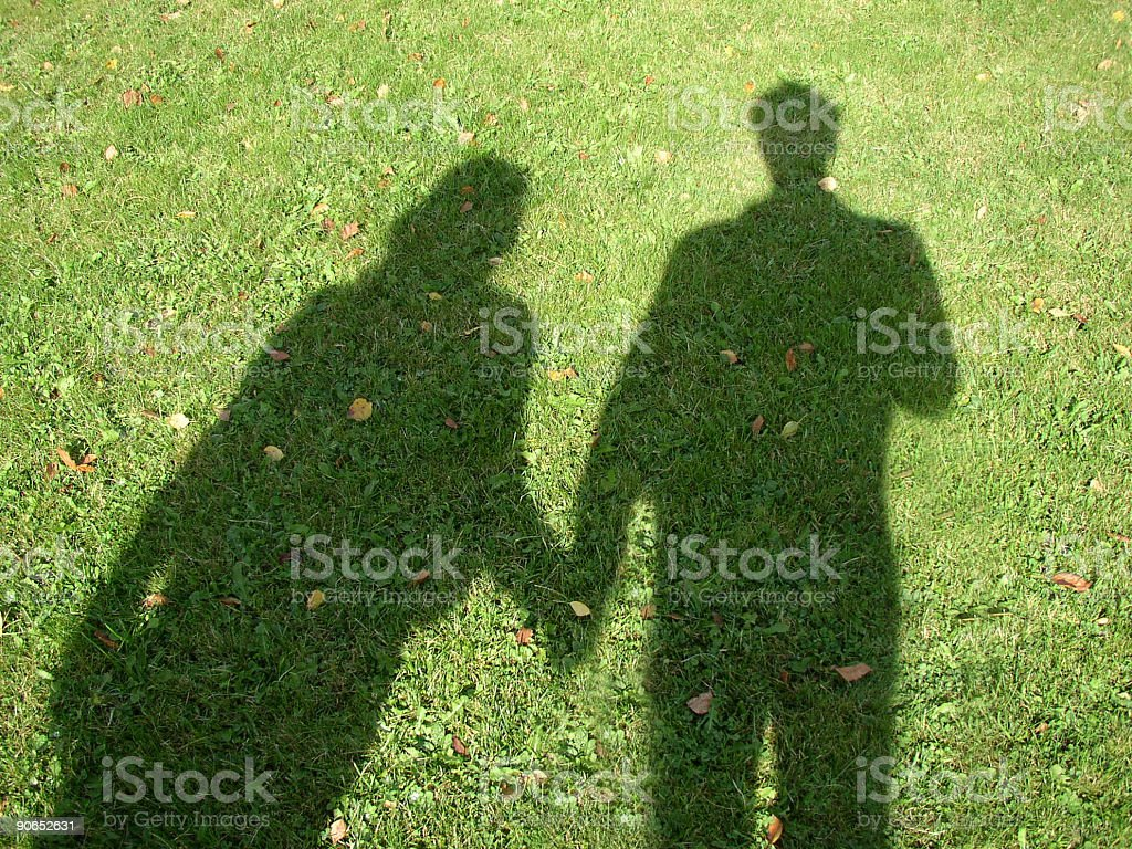 Two holding hands royalty-free stock photo