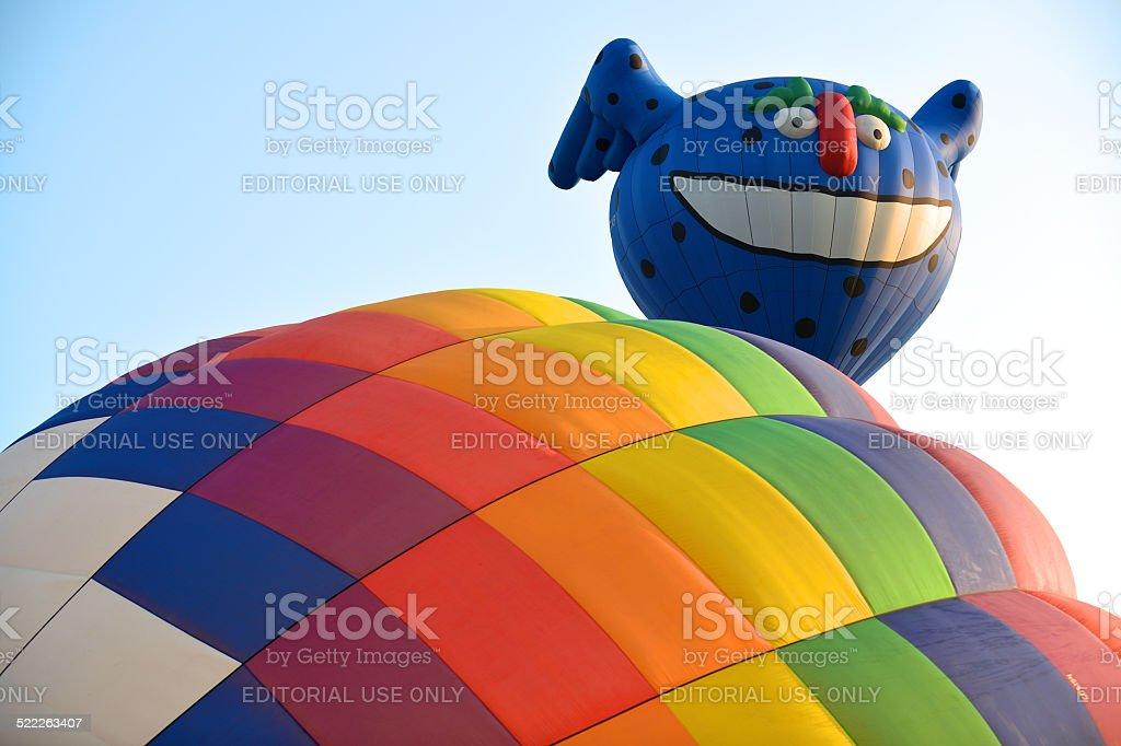 Two hot air balloon stock photo