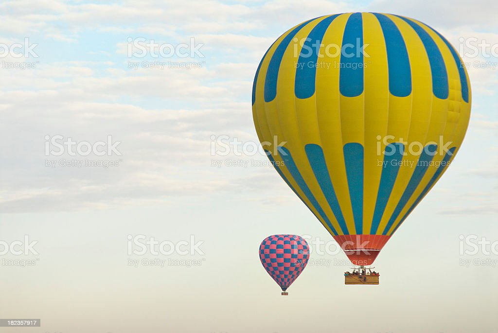 Two Hot Air Balloons stock photo