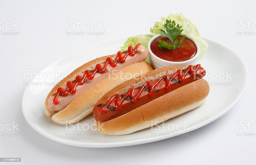 Two Hot Dogs royalty-free stock photo