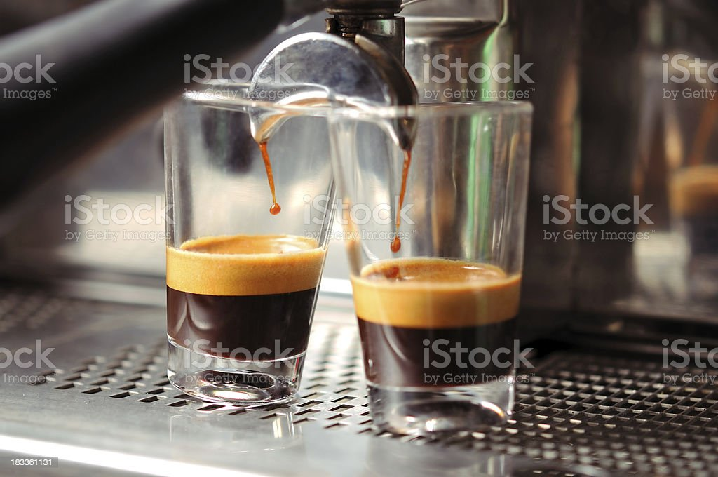 Two Hot Espresso royalty-free stock photo