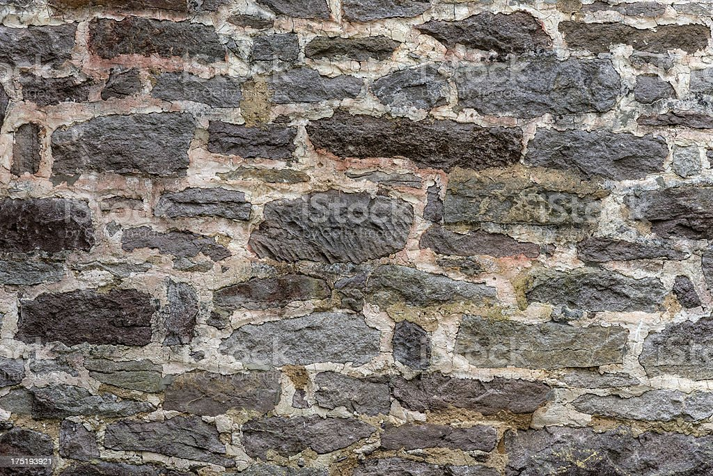 Two Hundred Year Old Stone Wall Horizontal royalty-free stock photo