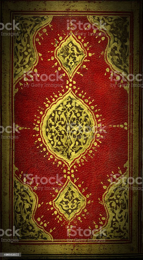 Two hundred years old leader Koran Cover stock photo