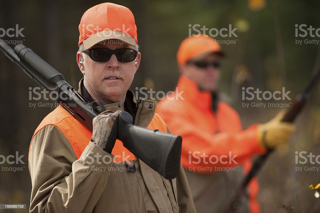 Two Hunters stock photo