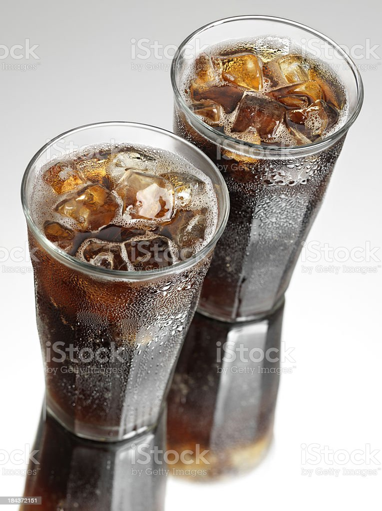 Two Ice Cold Sodas royalty-free stock photo
