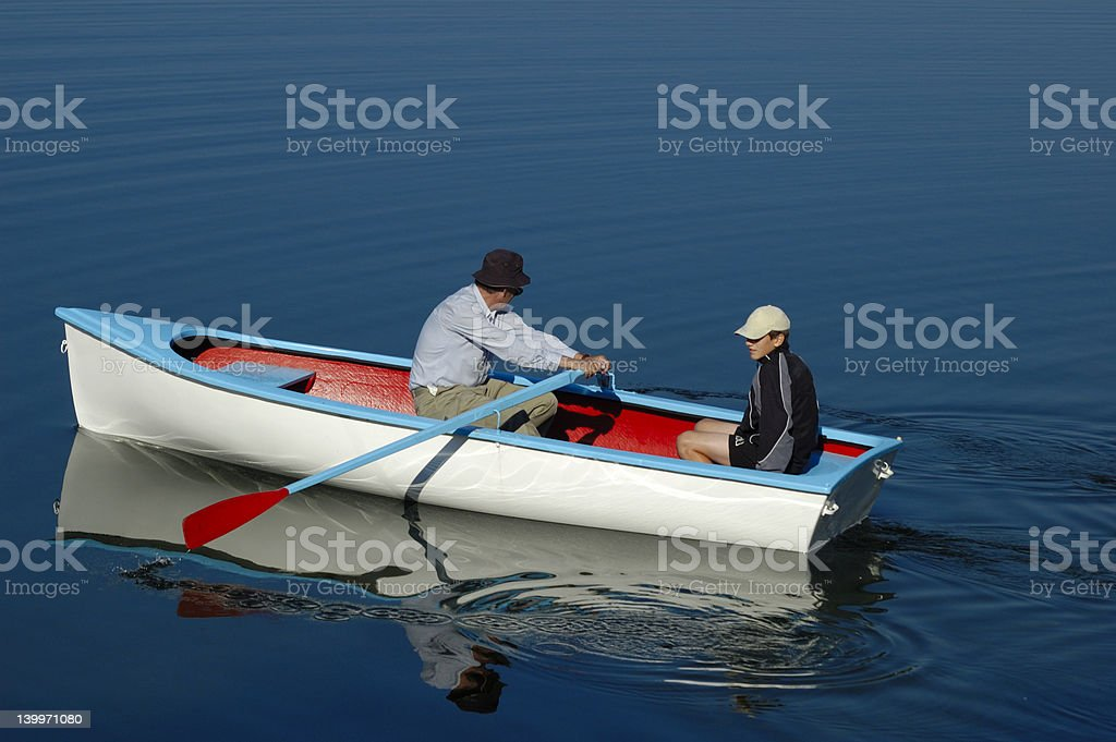 Two in a boat royalty-free stock photo