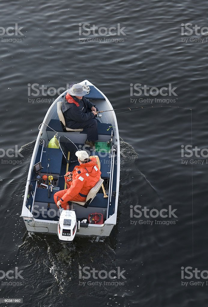 Two in a Fishingboat stock photo
