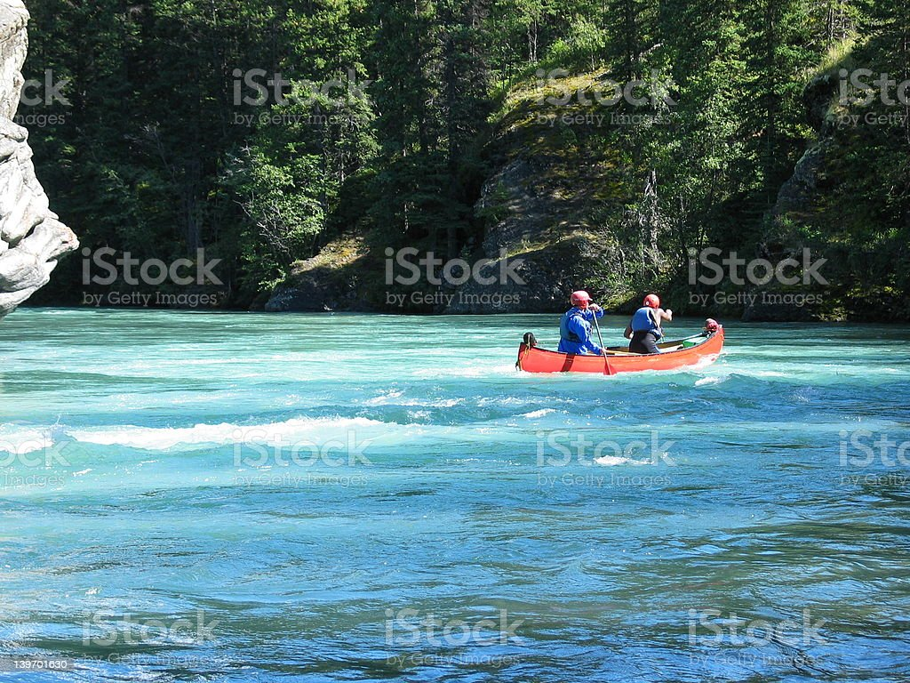 Two in Canoe royalty-free stock photo