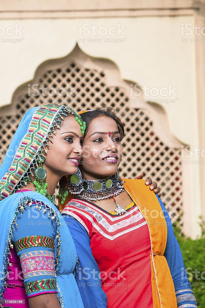 Two indian women portrait royalty-free stock photo