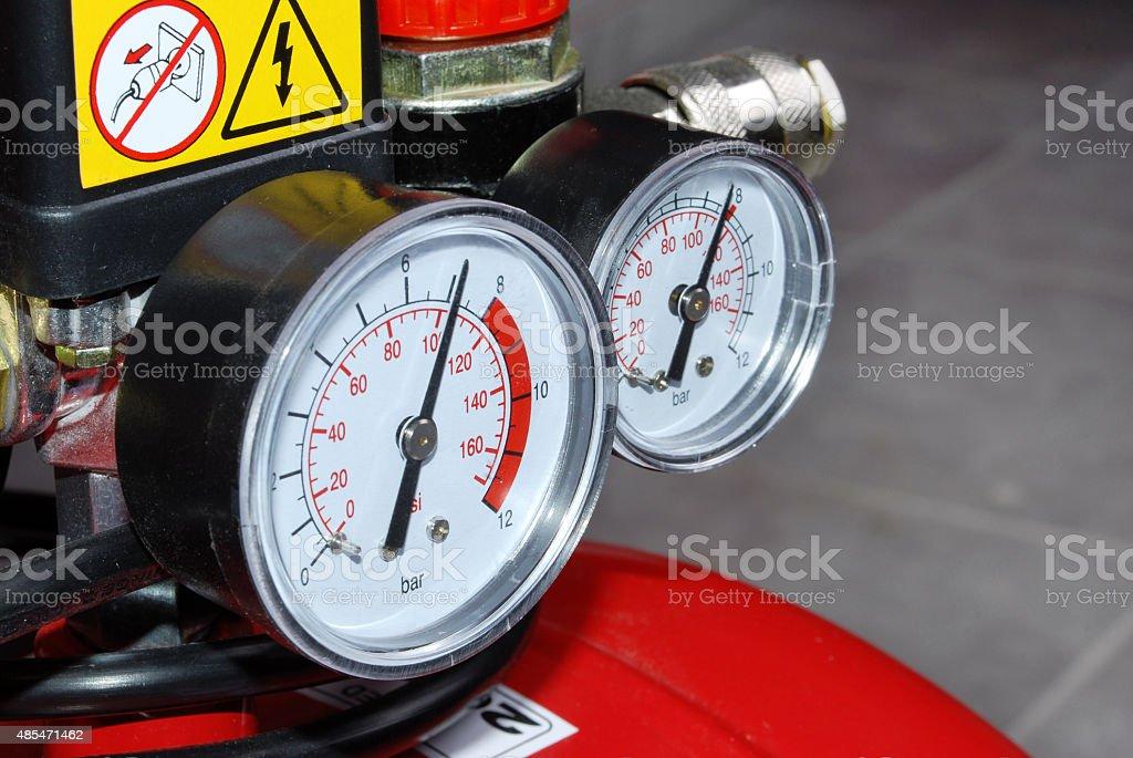 Two indicators stock photo