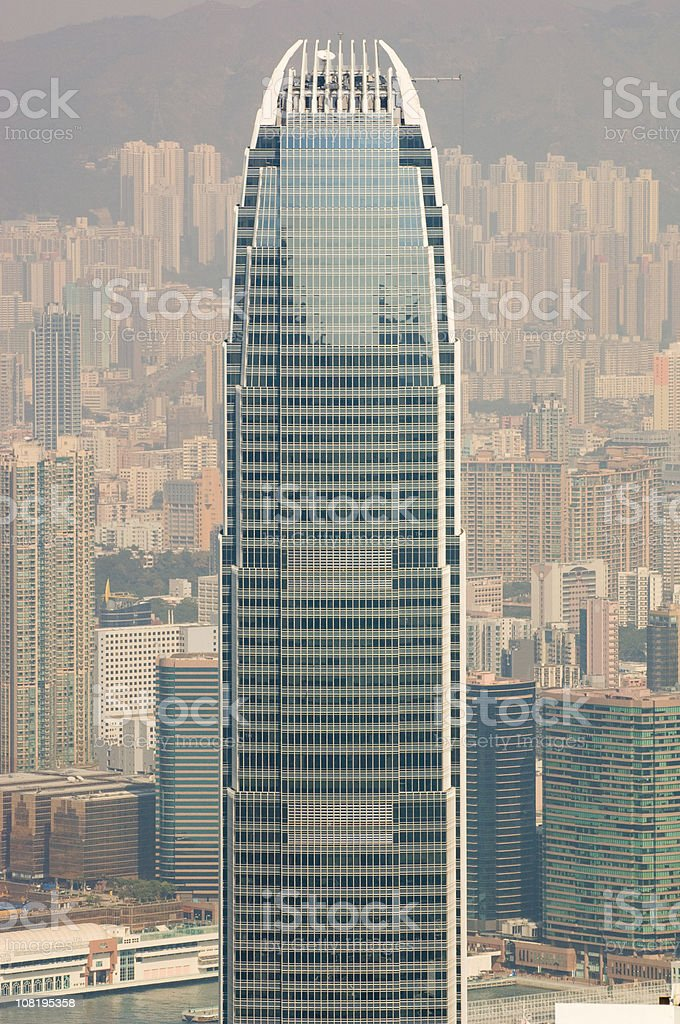 Two International Finance Center Office Building in Hong Kong royalty-free stock photo