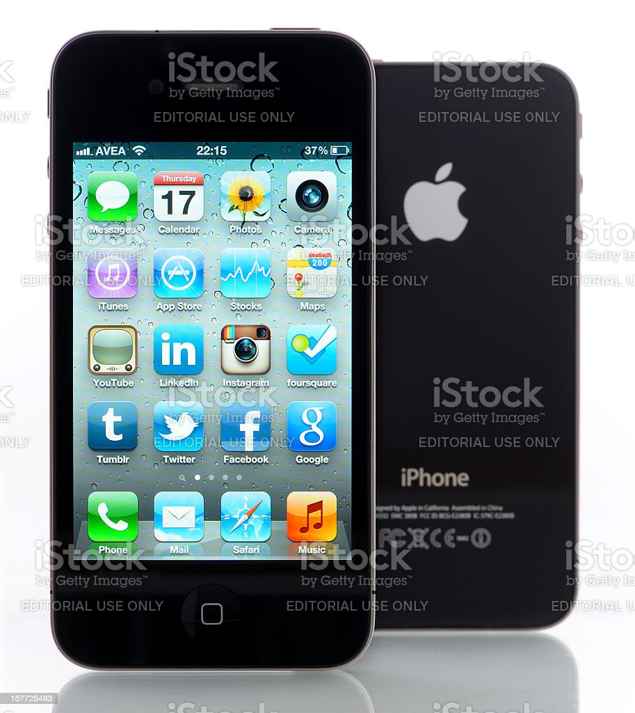 Two iPhone 4s royalty-free stock photo