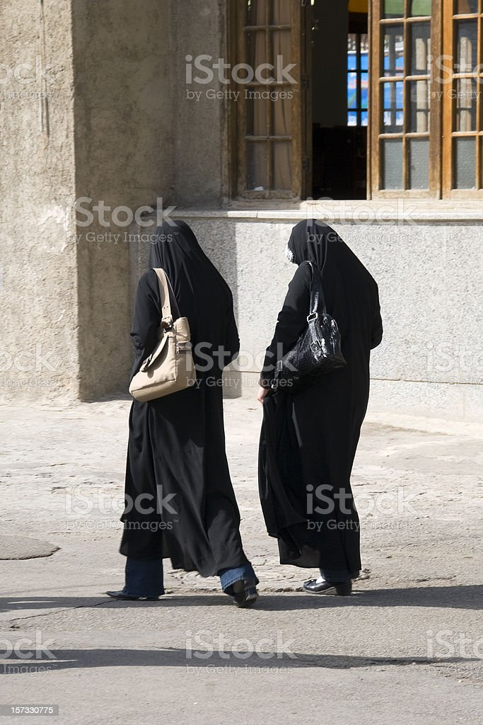 Two Iranian Women stock photo