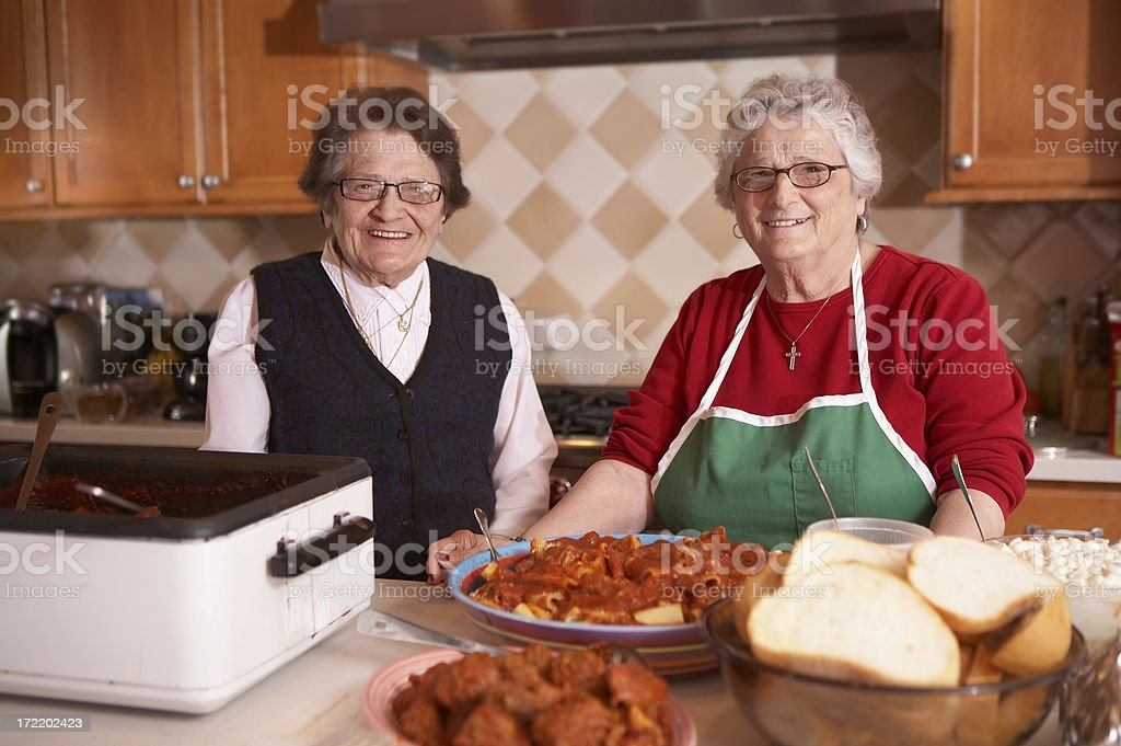 Two Italian Sisters stock photo