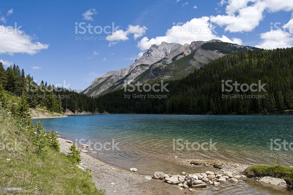 Two Jack Lake, Banff National Park stock photo