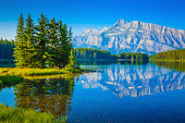 Two Jack Lake, Mount Rundle, Banff National Park Canada