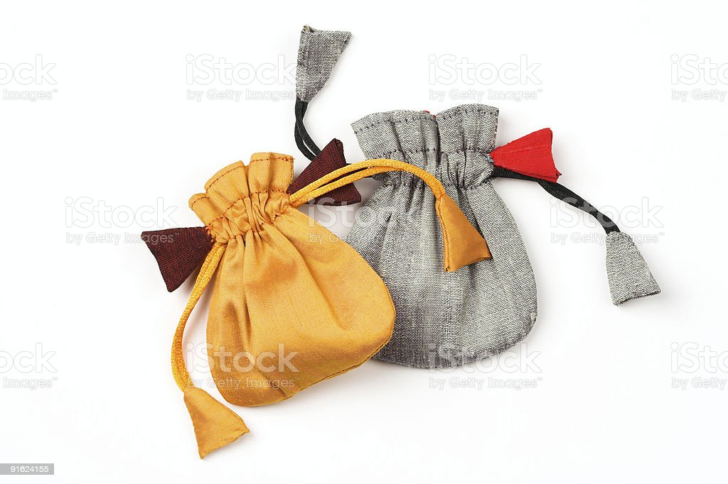 Two jewelry pouches royalty-free stock photo