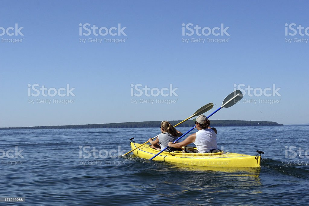 Two Kayakers royalty-free stock photo