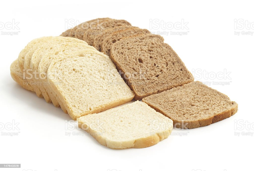 two kind of toast bread stock photo