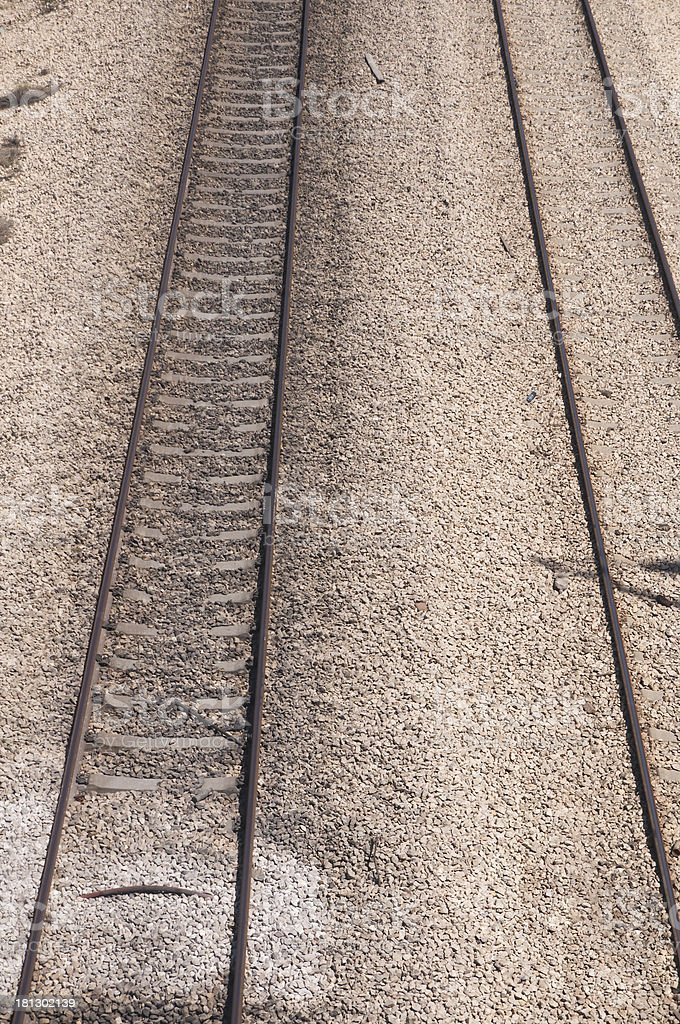 Two kinds of Railroads stock photo