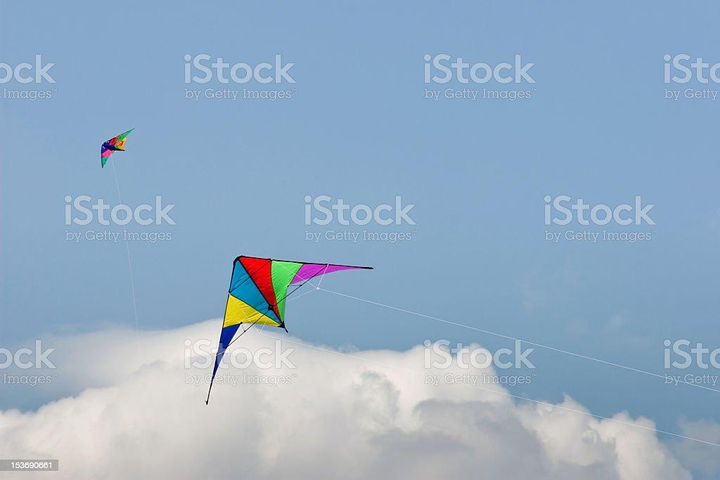 two kites stock photo