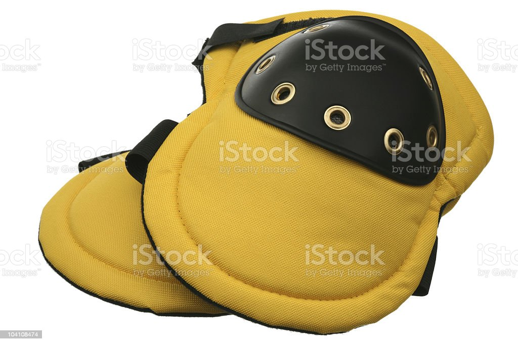 Two knee-pads stock photo