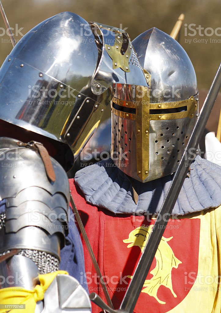 Two knights royalty-free stock photo